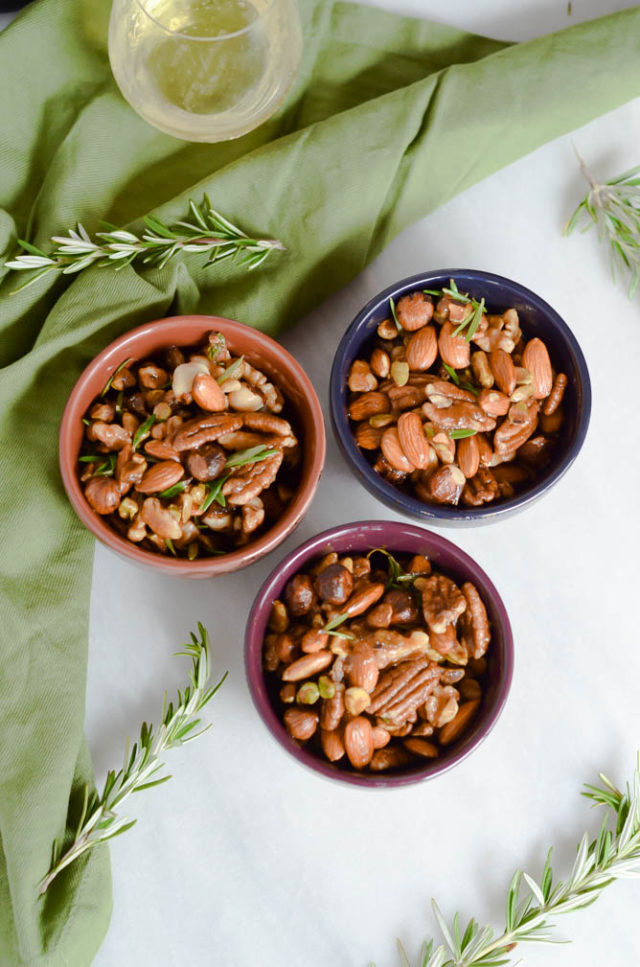 Spiced Rosemary Bar Nuts | CaliGirlCooking.com