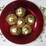 Crab Zucchini Stuffing Cakes with Lemon-Basil Aioli | CaliGirl Cooking