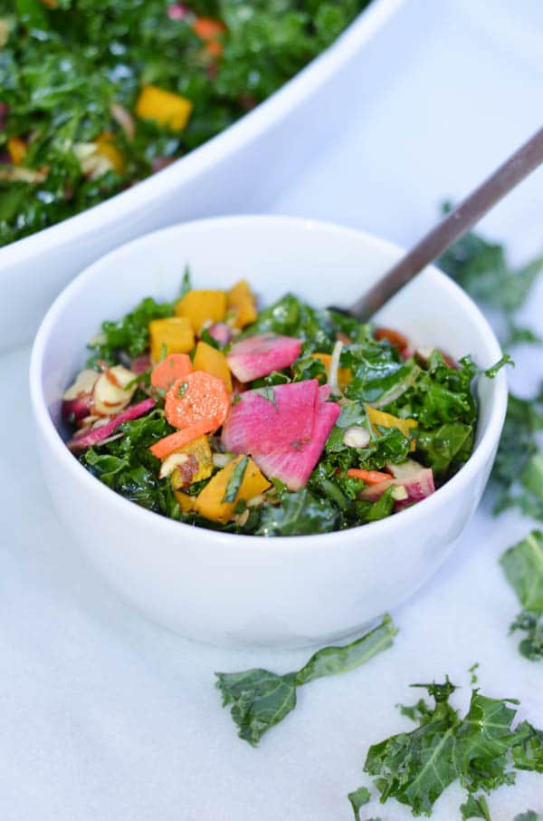 Winter Kale Salad | CaliGirl Cooking