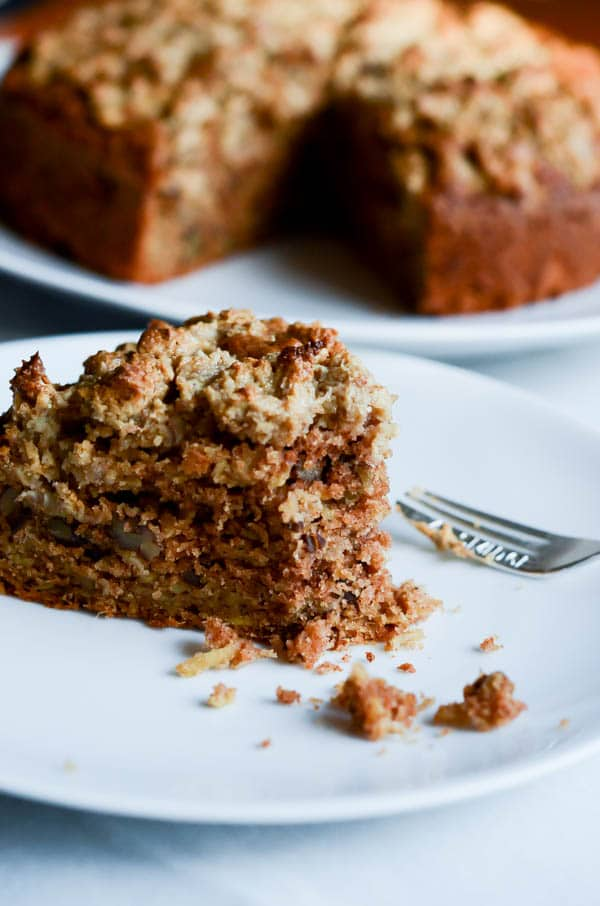 Parsnip Coffee Cake with Cream Cheese Crumble | CaliGirl Cooking