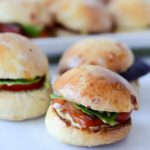 BLT Sliders with White Cheddar Brioche Buns | CaliGirlCooking.com