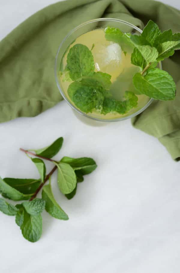 Pineapple Green Tea Martini | CaliGirl Cooking