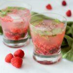 Raspberry Mint Gin Smash | 21 Valentine's Day Cocktails and Mocktails on CaliGirlCooking.com