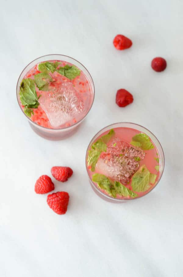 Raspberry-Mint Gin Smash | CaliGirl Cooking