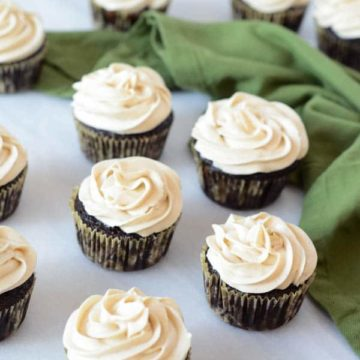 Chocolate Stout Cupcakes with Irish Cream Buttercream | CaliGirl Cooking