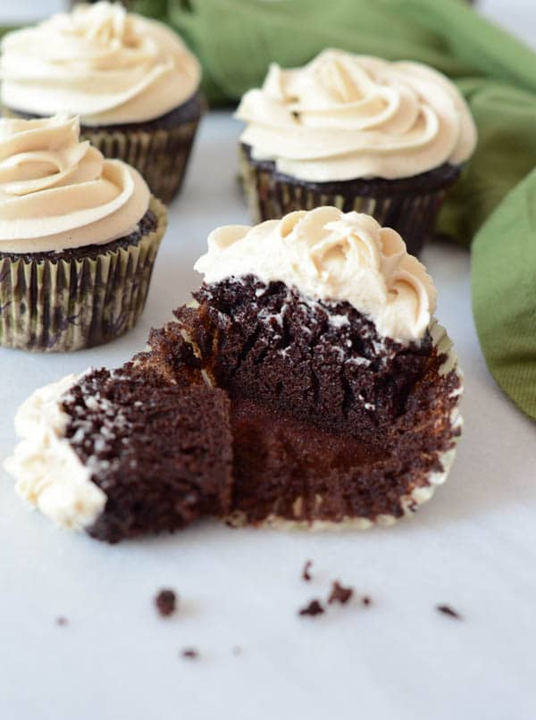 Chocolate Stout Cupcakes with Irish Cream Buttercream   CaliGirl Cooking