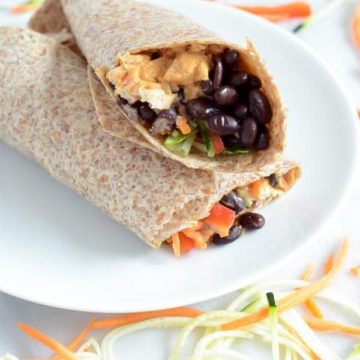 Thai Chicken Burritos | CaliGirl Cooking