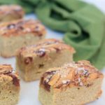 Tahini Blondies with Whiskey Date Caramel & Sea Salt | CaliGirl Cooking