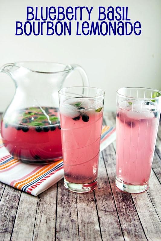 Blueberry Basil (Bourbon) Lemonade {Bunsen Burner Bakery} | Top 10 Memorial Day Cocktails from CaliGirl Cooking
