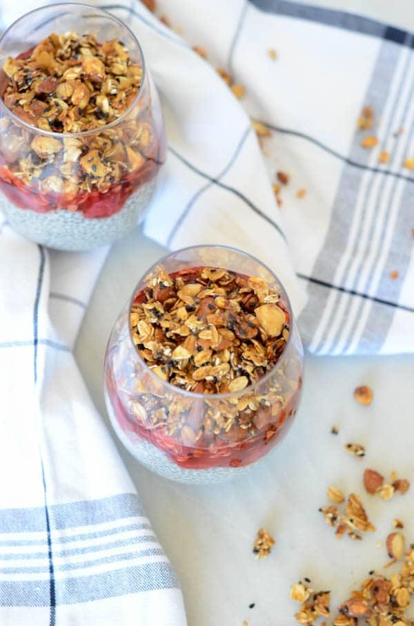 Coconut-Vanilla Chia Pudding Parfait | CaliGirl Cooking