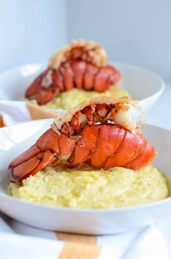 Lobster and Cheesy Grits | CaliGirl Cooking