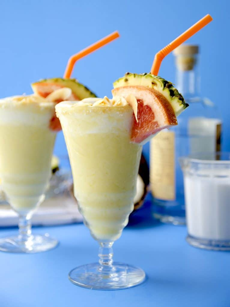 Pina Coladas from Scratch | Top 10 Memorial Day Cocktails from CaliGirl Cooking