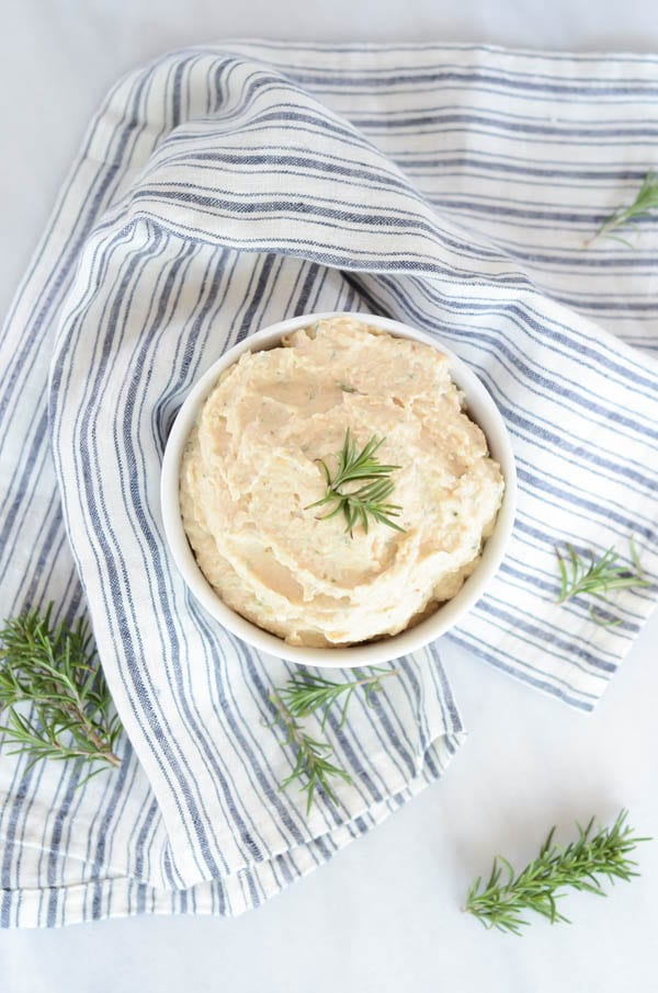 Roasted Cauliflower Hummus with Rosemary & Garlic | CaliGirl Cooking