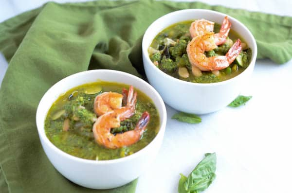 Spring Green Minestrone with Basil-Cilantro Pistou   CaliGirl Cooking