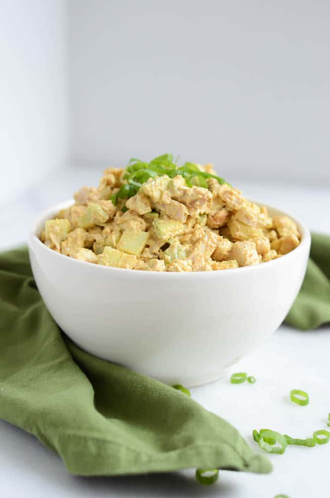 Healthy Curried Chicken Salad | CaliGirl Cooking for The Fit Blog