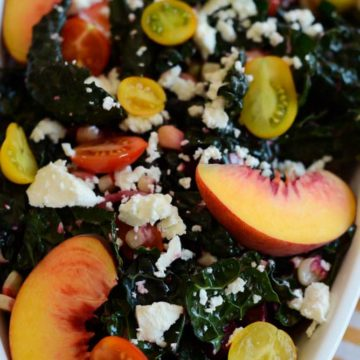 Summer Kale Salad with Grapefruit Vinaigrette | CaliGirl Cooking
