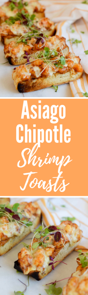 Asiago Chipotle Shrimp Toasts | CaliGirlCooking.com