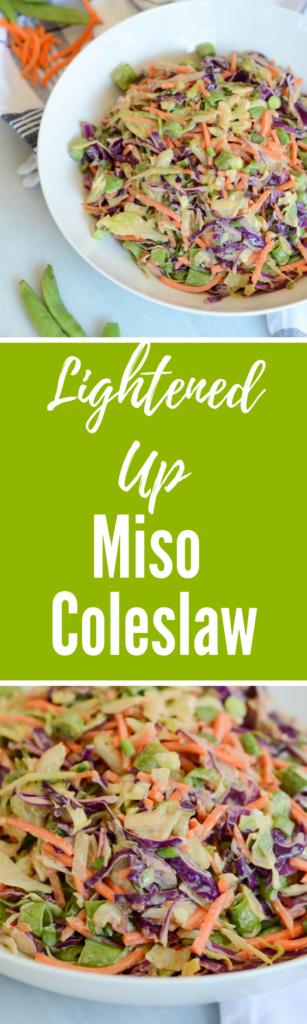 Lightened Up Miso Coleslaw | CaliGirlCooking.com