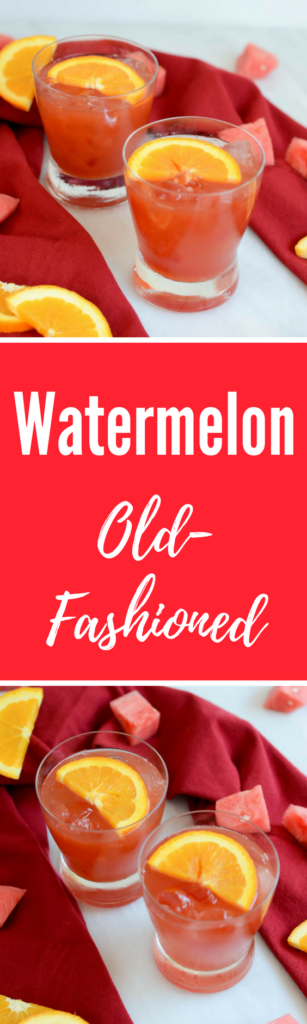 Watermelon Old-Fashioned | CaliGirlCooking.com