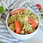 Hazelnut Pesto Caprese Couscous | CaliGirl Cooking (www.caligirlcooking.com)