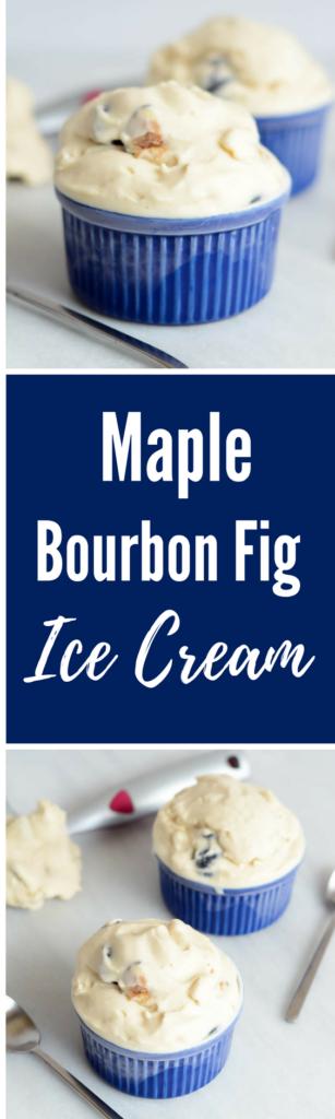 Maple Bourbon Fig Ice Cream | CaliGirlCooking.com