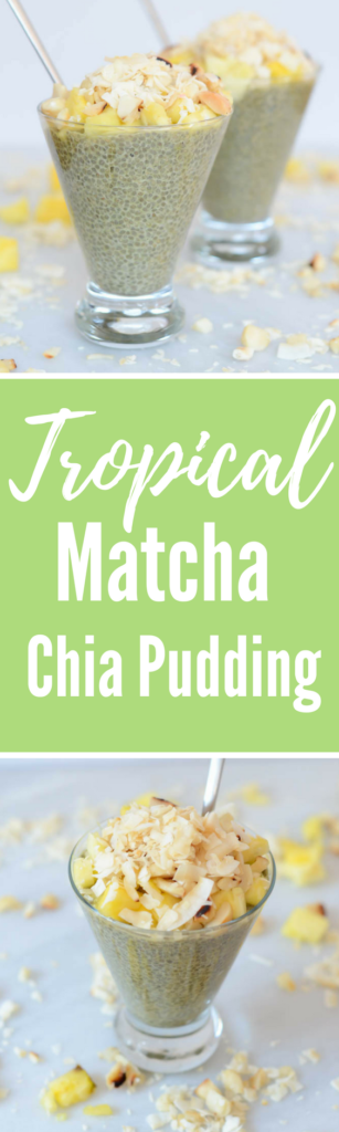 Tropical Matcha Chia Pudding | CaliGirlCooking.com