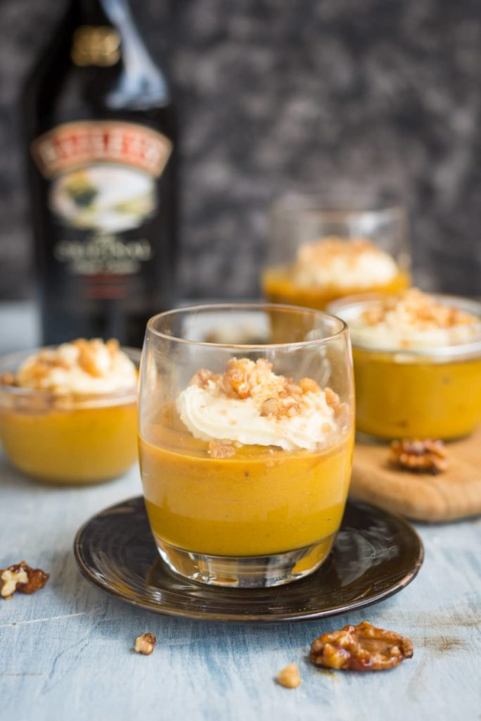 15-Minute Bailey's Pumpkin Mousse by The Flavours of Kitchen | 22 Quick & Easy Halloween Recipes at CaliGirlCooking.com