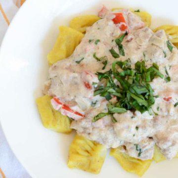 Curry Gnocchi with White Lamb Bolognese | CaliGirlCooking.com