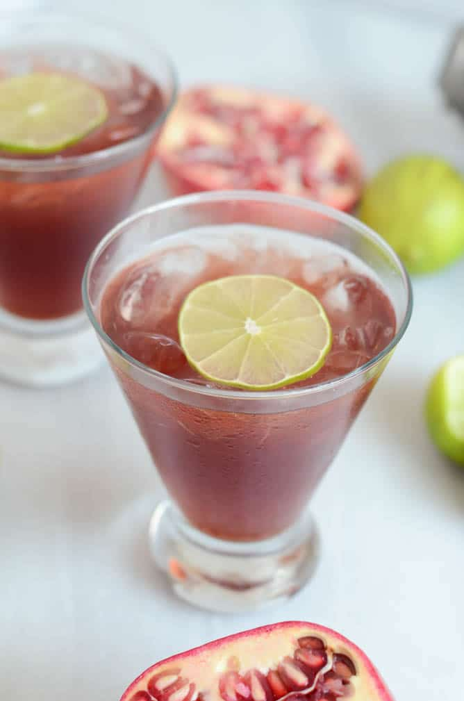 Pomegranate Margarita | CaliGirlCooking.com