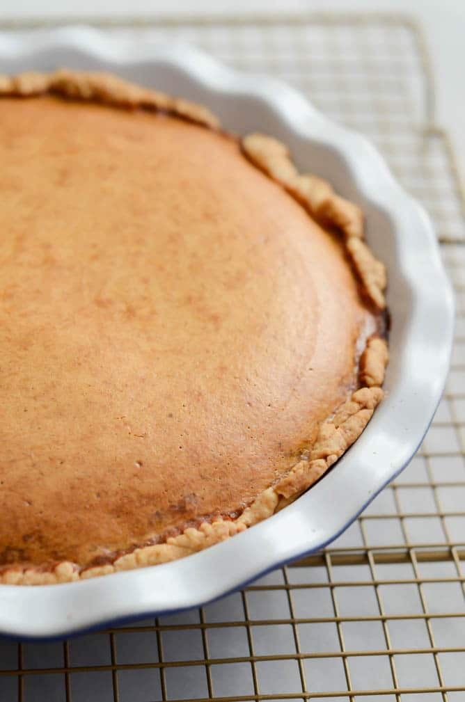 Cream Cheese-y Pumpkin Pie | 22 Totally Achievable Thanksgiving Recipes on CaliGirlCooking.com