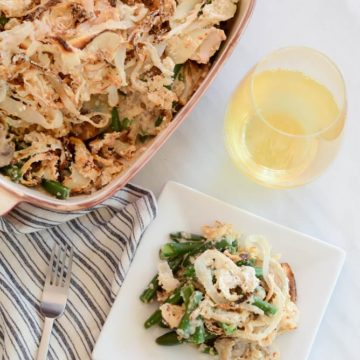 Healthy (Vegan) Green Bean Casserole | CaliGirlCooking.com