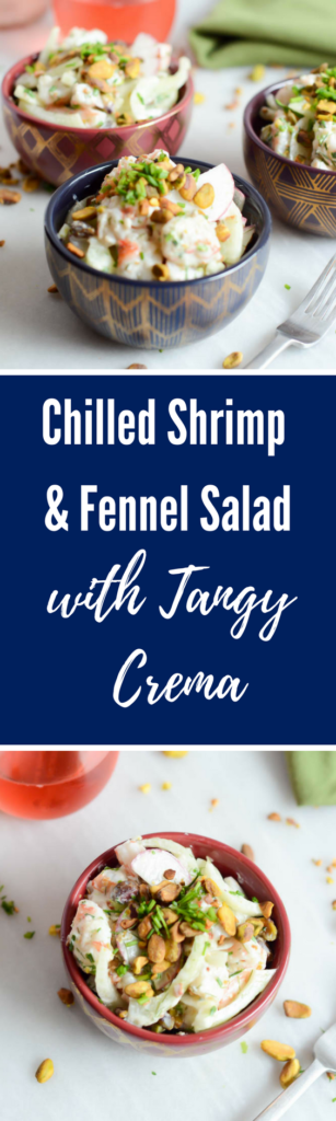 Chilled Shrimp and Fennel Salad with Tangy Crema | CaliGirlCooking.com