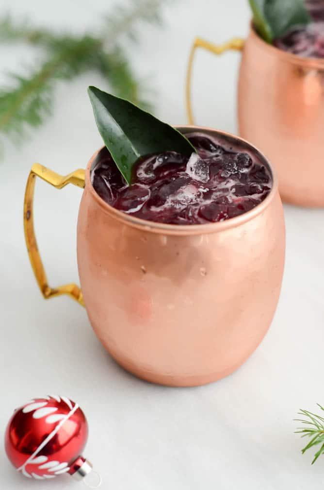 Cranberry Ginger Mule | CaliGirlCooking.com