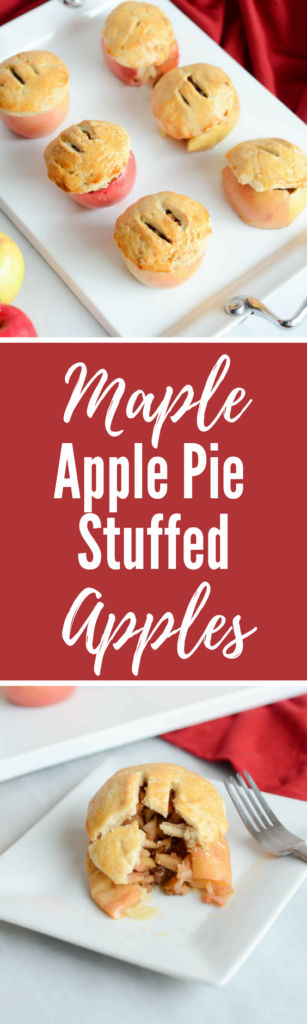 Maple Apple Pie Stuffed Apples | CaliGirlCooking.com
