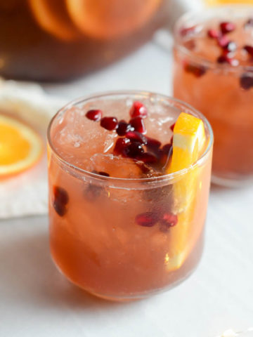 Sparkling Pomegranate Party Punch | 22 Valentine's Day Cocktails and Mocktails on CaliGirlCooking.com