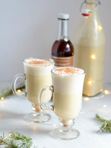 Winter Spiced Vanilla Eggnog | CaliGirlCooking.com