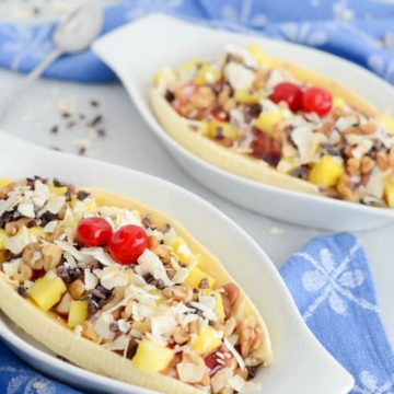 Breakfast Banana Split | CaliGirlCooking.com