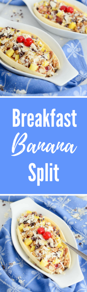 Breakfast Banana Split | CaliGirlCooking.com