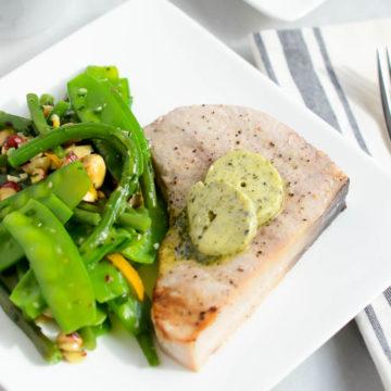 Grilled Swordfish with Furikake Butter   CaliGirlCooking.com