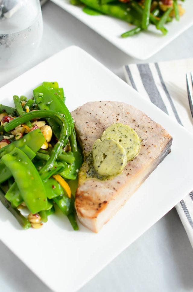 Grilled Swordfish with Furikake Butter | CaliGirlCooking.com