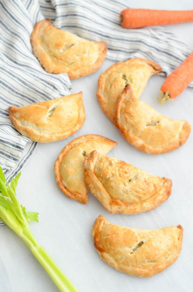 Healthier Chicken Pot Pie Pockets   CaliGirlCooking.com