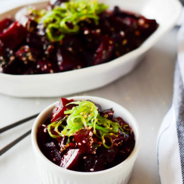Spicy Beet Poke | CaliGirlCooking.com