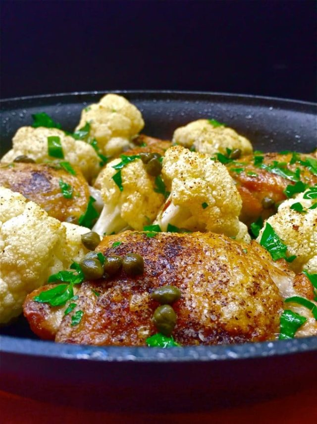 Chicken and Cauliflower Skillet | 21 Recipes to Get Hygge With on CaliGirlCooking.com