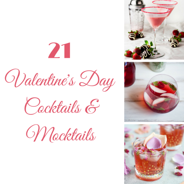 21 Valentine's Day Cocktails and Mocktails | CaliGirlCooking.com