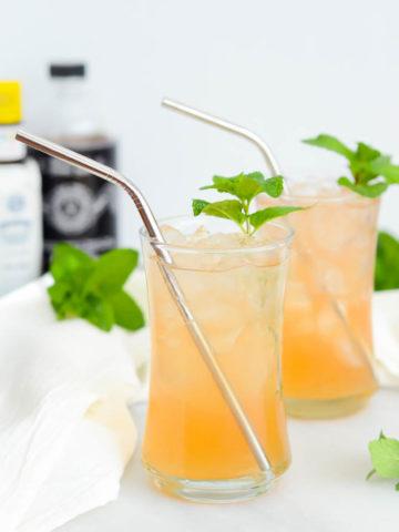 Pineapple, Fennel and Lychee Shrub | CaliGirlCooking.com