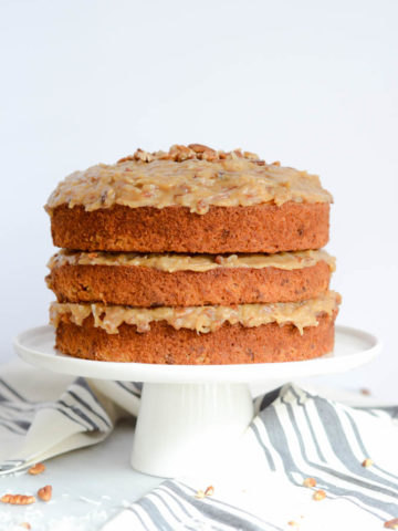 Carrot Cake with Coconut Pecan Frosting | CaliGirlCooking.com