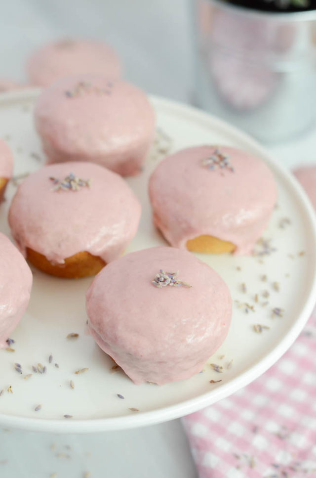 Lavender Vanilla Cupcakes with Blood Orange Glaze | CaliGirlCooking.com