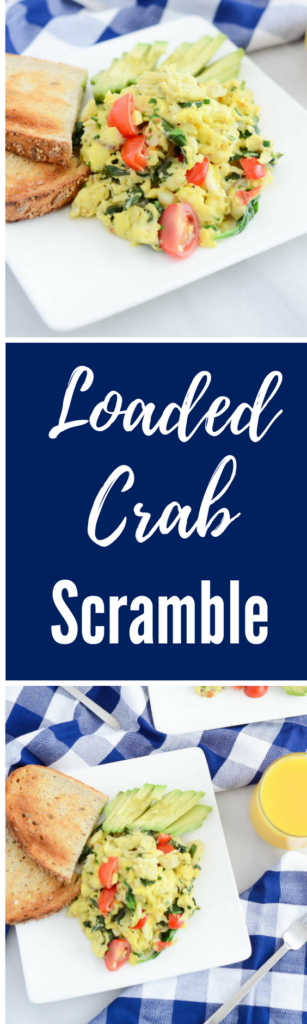 Loaded Crab Scramble | CaliGirlCooking.com