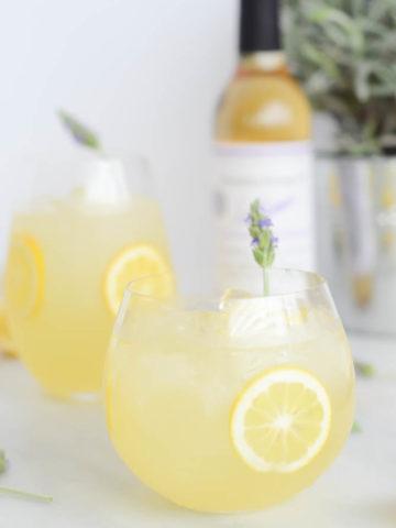 Spiked Lavender Lemonade | CaliGirlCooking.com