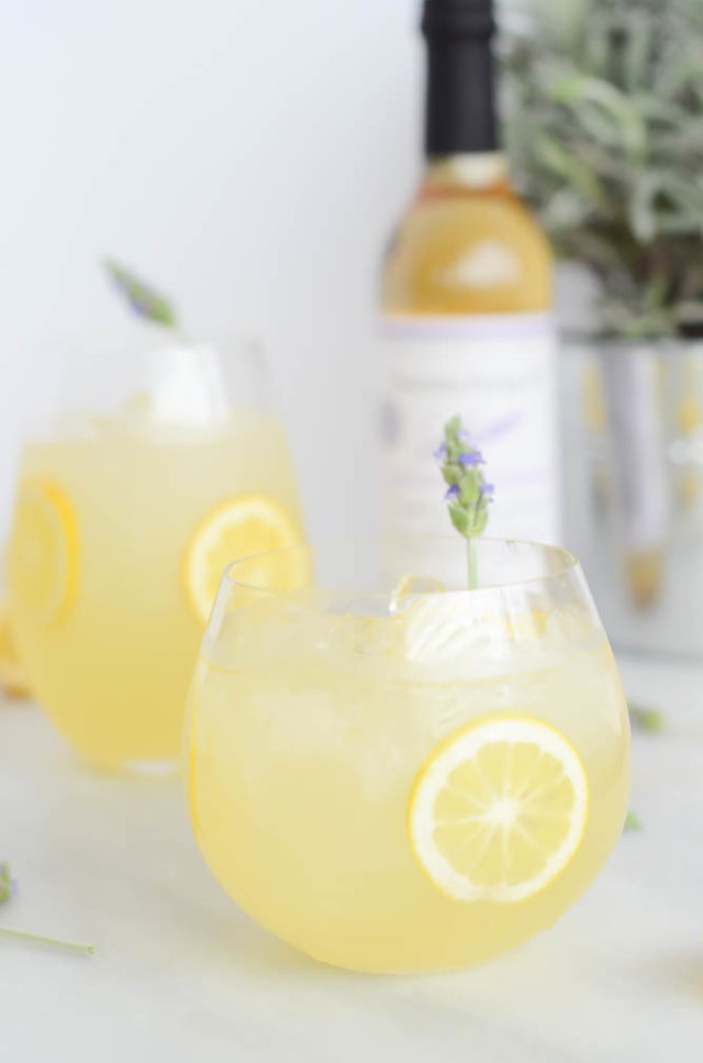 Spiked Lavender Lemonade | CaliGirlCooking.com